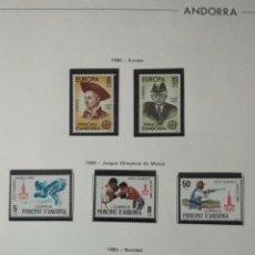 Sellos: SELLOS DE ANDORRA NUEVOS AÑOS 1980 A 2004 Y 2006. TODOS LOS QUE SE MUESTRAN EN LAS FOTOS. VER FOTOS. Lote 216998168