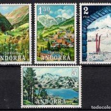 Sellos: ANDORRA 73/76* - AÑO 1972 - PAISAJES. Lote 218629402