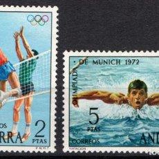 Sellos: ANDORRA 77/768* - AÑO 1972 - DEPORTES - JUEGOS OLIMPICOS DE MUNICH. Lote 218629788