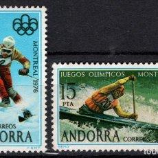 Sellos: ANDORRA 104/05* - AÑO 1976 - DEPORTES - JUEGOS OLIMPICOS DE MONTREAL. Lote 218629945