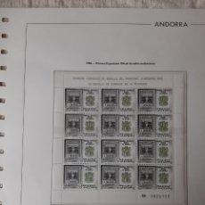 Francobolli: 1982 ANDORRA ESPAÑA MINI PLIEGO EXPOSICIÓN SELLOS ANDORRANOS MP 2. Lote 219623671