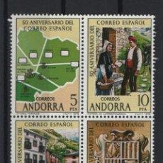 Sellos: .G-SUB_8/ ANDORRA ESPAÑOLA, EDIFIL 116A/D MNH**. Lote 220904305