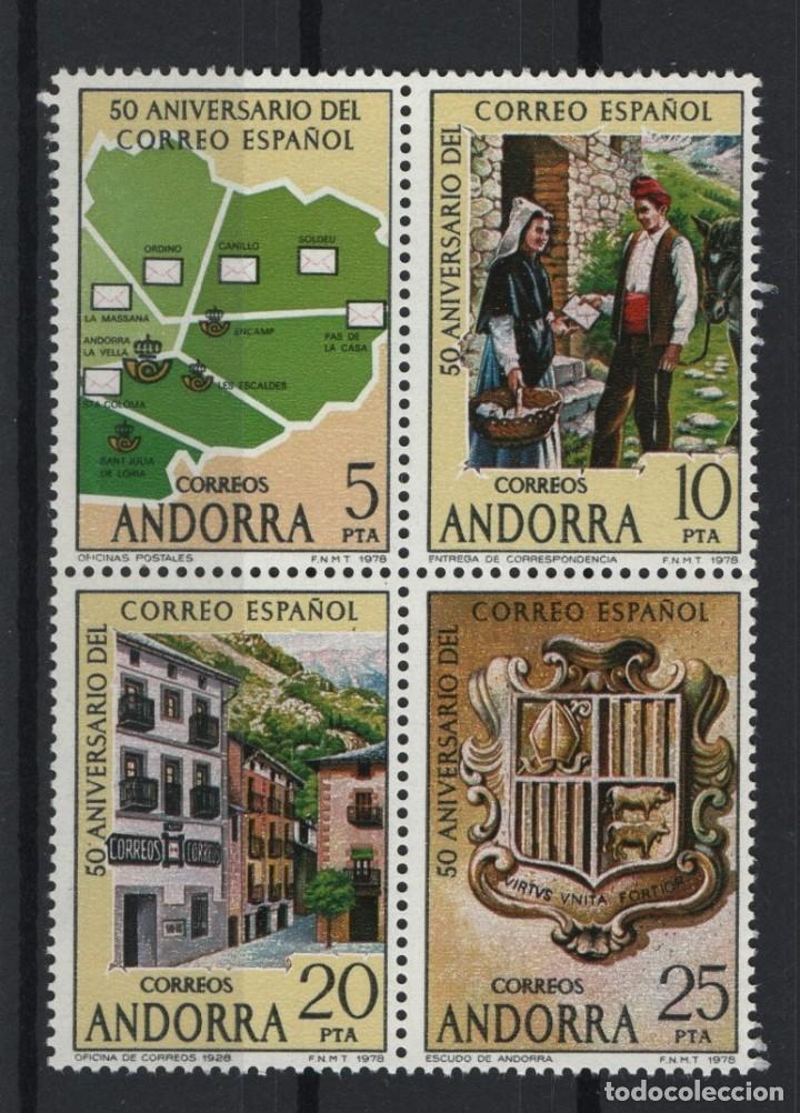 .G-SUB_8/ ANDORRA ESPAÑOLA, EDIFIL 116A/D MNH** (Sellos - España - Dependencias Postales - Andorra Española)