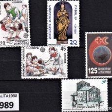 Sellos: SELLOS ESPAÑA ANDORRA AÑO 1989 MNH NUEVOS CON GOMA ORIGINAL. Lote 221448772