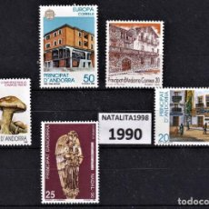 Sellos: SELLOS ESPAÑA ANDORRA AÑO 1990 MNH NUEVOS CON GOMA ORIGINAL. Lote 221448972