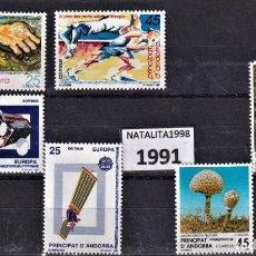 Sellos: SELLOS ESPAÑA ANDORRA AÑO 1991 MNH NUEVOS CON GOMA ORIGINAL. Lote 221448997