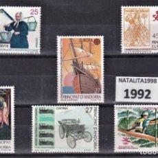 Sellos: SELLOS ESPAÑA ANDORRA AÑO 1992 MNH NUEVOS CON GOMA ORIGINAL. Lote 221449028