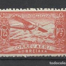 Sellos: PAISAJES ANDORRA 1932 EDIFIL NE 17 NUEVO* VALOR 2018 CATALOGO 0.45 EUROS. Lote 221875178