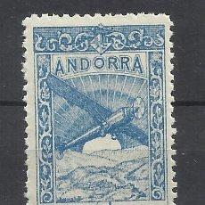 Sellos: PAISAJES ANDORRA 1932 EDIFIL NE 24 NUEVO** VALOR 2018 CATALOGO 25.- EUROS. Lote 221875378