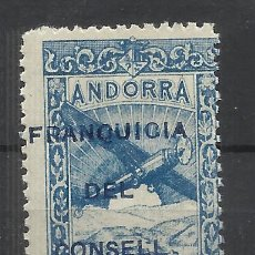 Sellos: PAISAJES FRANQUICIA DEL CONSELL ANDORRA 1932 EDIFIL NE 36 NUEVO* VALOR 2018 CATALOGO 28.50 EUROS. Lote 221875852