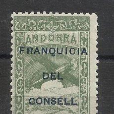 Sellos: PAISAJES FRANQUICIA DEL CONSELL ANDORRA 1932 EDIFIL NE 33 NUEVO** VALOR 2018 CATALOGO 4.- EUROS. Lote 221876058