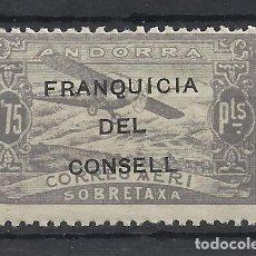 Sellos: PAISAJES FRANQUICIA DEL CONSELL ANDORRA 1932 EDIFIL NE 31 NUEVO** VALOR 2018 CATALOGO 1.15 EUROS. Lote 221877540