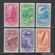 Sellos: ANDORRA ESPAÑOLA, 1938 EDIFIL Nº 1 / 6 /*/. Lote 222166586