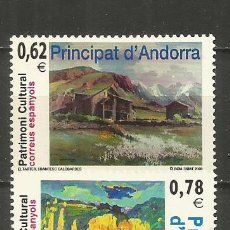 Selos: ANDORRA EDIFIL NUM. 369/370 ** SERIE COMPLETA SIN FIJASELLOS. Lote 222621643
