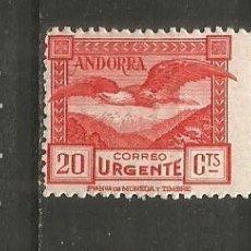 Sellos: ANDORRA EDIFIL NUM. 27 * NUEVO CON FIJASELLOS --TIENE UNA TRANSPARENCIA PRECIO MUY REBAJADO--. Lote 222662248