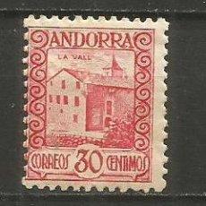 Sellos: ANDORRA EDIFIL NUM. 36 * NUEVO CON FIJASELLOS. Lote 222662875