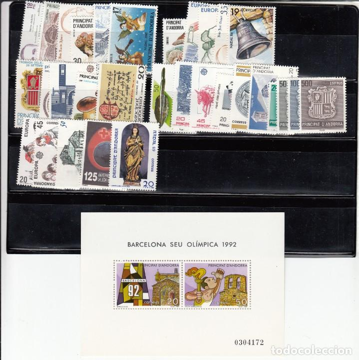 Sellos: ANDORRA ESPAÑOLA - COMPLETO AÑOS 1980 A 1989 -NUEVOS SIN FIJASELLOS - Foto 2 - 223818848