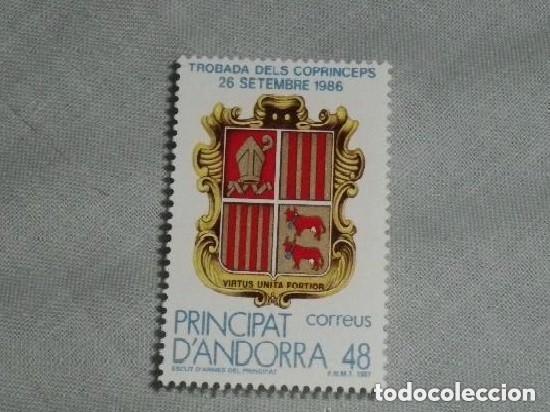 ANDORRA - TROBADA DELS COPRINCEPS 1986 NUEVO (Sellos - España - Dependencias Postales - Andorra Española)