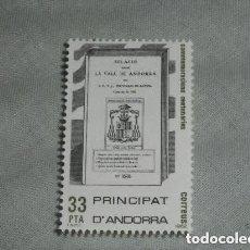 Sellos: ANDORRA COMMEMORACIONES CENTENARIAS NUEVO. Lote 225192405