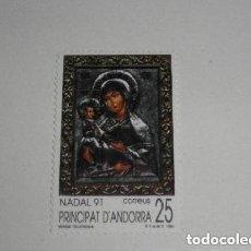 Sellos: ANDORRA ESPAÑOLA 1991 228 NAVIDAD. VIRGEN TRIJERUSA NUEVO. Lote 225192655