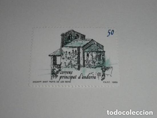ANDORRA EDIFIL 215*** - AÑO 1989 - TURISMO - IGLESIA DE SANT ROMA DE LES BONS NUEVO (Sellos - España - Dependencias Postales - Andorra Española)
