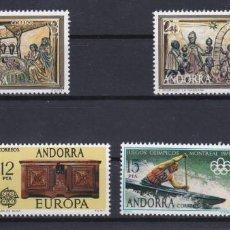Sellos: 1976 AÑO COMPLETO DE SELLOS DE ANDORRA ESPAÑOLA - NUEVOS SIN CHARNELA. Lote 226853095