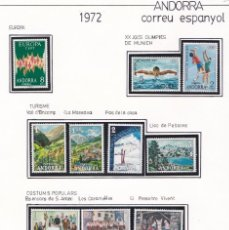 Francobolli: 1972 AÑO COMPLETO DE ANDORRA ESPAÑOLA - NUEVOS SIN CHARNELA**. Lote 226856600