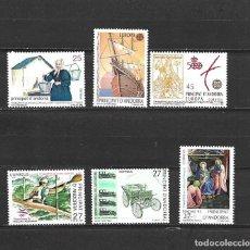 Selos: ANDORRA, ADMINISTRACIÓN ESPAÑOLA, 1992, COMPLETO, EDIFIL 229-234. Lote 228019260
