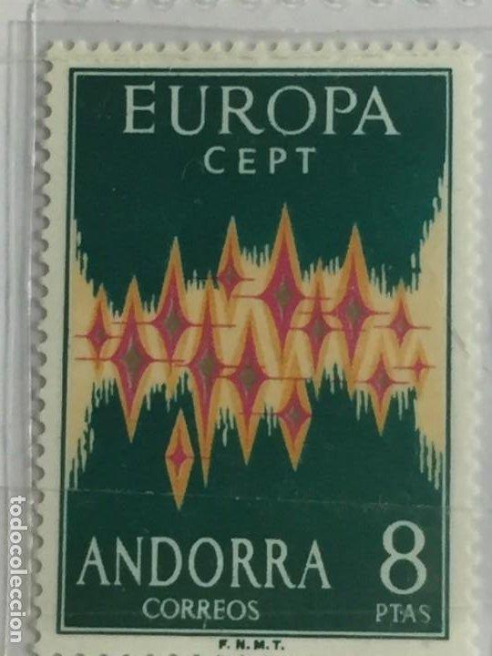 ANDORRA 8 PTAS 1972 (Sellos - España - Dependencias Postales - Andorra Española)
