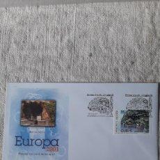 Sellos: ANDORRA ESPAÑOLA EDIFIL 285 SFC A 2 2001 EUROPA FUENTE ROC DEL METGE ESCALDES FLORA FLORES. Lote 236883325
