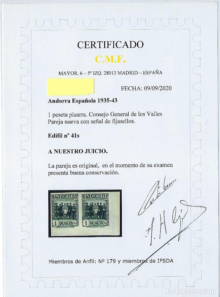 Sellos: ANDORRA - Correo español. Año 1935 - 1943. Sin número de control. - Foto 2 - 237207670
