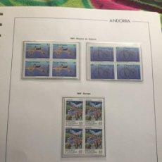 Sellos: ANDORRA ESPAÑOLA AÑO 1997 COMPLETO EN BLOQUE DE 4 NUEVOS LOS DE LAS FOTOS. VER TODOS MIS SELLOS. Lote 239373405