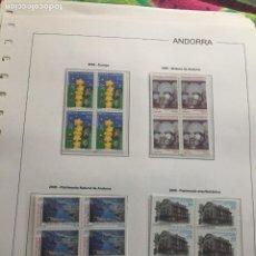 Sellos: ANDORRA ESPAÑOLA AÑO 2000 COMPLETO EN BLOQUE DE 4 NUEVOS LOS DE LAS FOTOS. VER TODOS MIS SELLOS. Lote 239375075