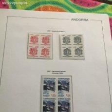 Sellos: ANDORRA ESPAÑOLA AÑO 2007 COMPLETO EN BLOQUE DE 4 NUEVOS LOS DE LAS FOTOS. VER TODOS MIS SELLOS. Lote 239378160