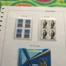 Sellos: ANDORRA ESPAÑOLA AÑO 2009 COMPLETO EN BLOQUE DE 4 NUEVOS LOS DE LAS FOTOS. VER TODOS MIS SELLOS. Lote 239379275