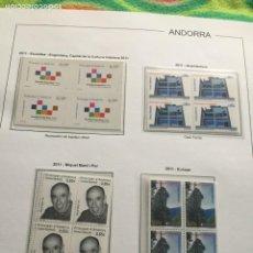 Sellos: ANDORRA ESPAÑOLA AÑO 2011 EN BLOQUE DE 4 NUEVOS LOS DE LAS FOTOS. VER TODOS MIS SELLOS. Lote 239380760
