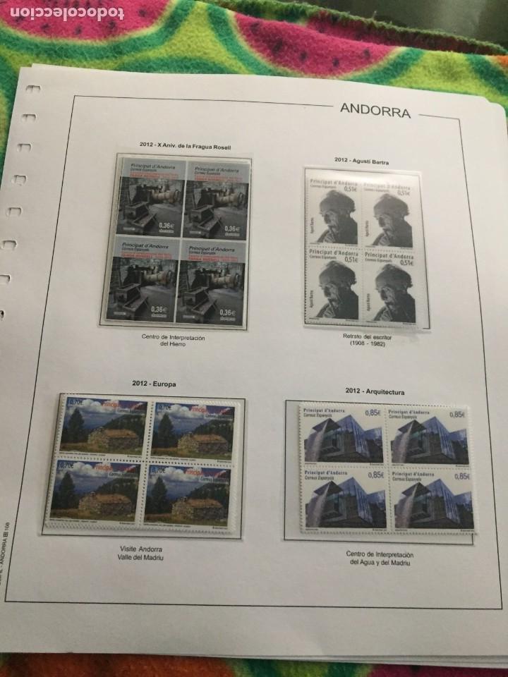 ANDORRA ESPAÑOLA AÑO 2012 COMPLETO EN BLOQUE DE 4 NUEVOS LOS DE LAS FOTOS. VER TODOS MIS SELLOS (Sellos - España - Dependencias Postales - Andorra Española)