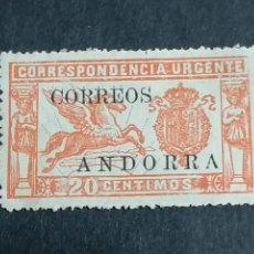 Sellos: ESPAÑA ANDORRA EDIFIL 13 CON CIFRAS CONTROL NUEVO CHANELA * CENTRAJE DE LUJO. Lote 239464480