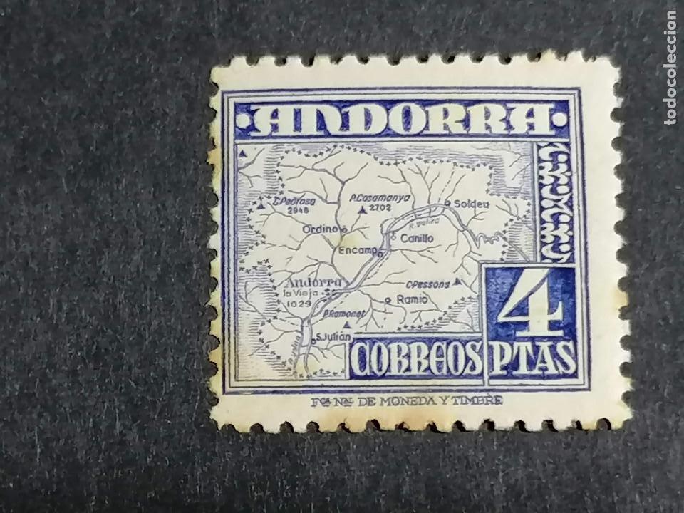 ESPAÑA ANDORRA EDIFIL 56 NUEVO CON MANCHAS HUMEDAD (Sellos - España - Dependencias Postales - Andorra Española)