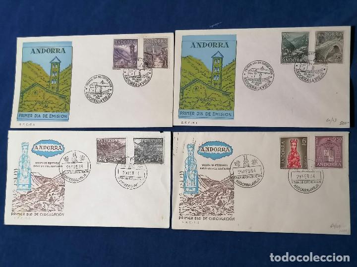 ANDORRA ESPAÑA SELLOS SERIE EDIFIL 60/67 AÑO 1963 (Sellos - España - Dependencias Postales - Andorra Española)