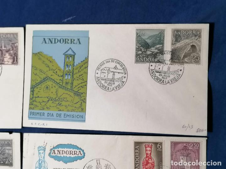 Sellos: Andorra España sellos serie Edifil 60/67 año 1963 - Foto 2 - 240361430