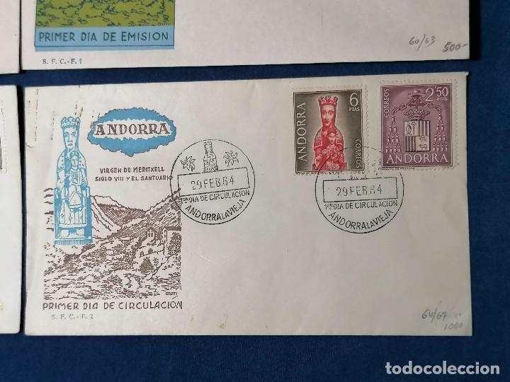 Sellos: Andorra España sellos serie Edifil 60/67 año 1963 - Foto 3 - 240361430