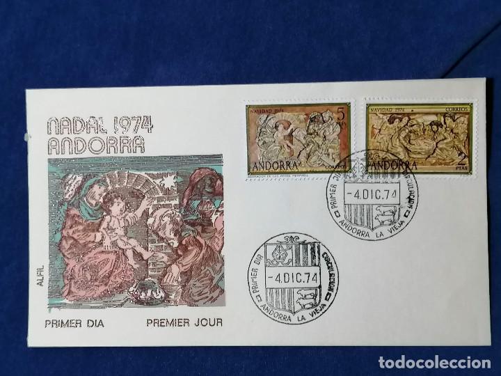 ANDORRA ESPAÑA SELLOS SERIE EDIFIL 94/5 AÑO NAVIDAD 1974 (Sellos - España - Dependencias Postales - Andorra Española)