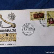 Sellos: ANDORRA ESPAÑA EUROPA CEPT SELLOS SERIE EDIFIL 102/3 AÑO NAVIDAD 1976. Lote 240361790