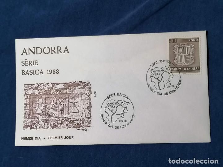 ANDORRA ESPAÑA BASICA 500 PTAS SELLOS SERIE EDIFIL 212 AÑO 1988 (Sellos - España - Dependencias Postales - Andorra Española)