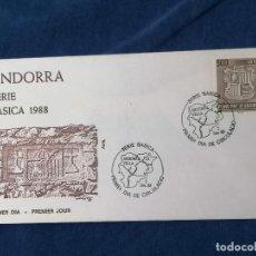 Sellos: ANDORRA ESPAÑA BASICA 500 PTAS SELLOS SERIE EDIFIL 212 AÑO 1988. Lote 240362015