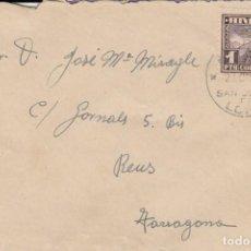 Sellos: SOBRE CON SELLO NUM.59 AEREO DE ANDORRA - CON MATASELLOS SANT JULIÀ DE LORIA. Lote 243417955