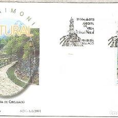 Sellos: ANDORRA SPD FDC PATRIMONI NATURAL 2001 CAMI REC DE SOLA. Lote 244722760