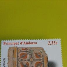 Sellos: 2011 ANDORRA ESPAÑOLA PATRIMONIO PIEDRA SANT ESTEVE EDIFIL 385 NUEVA FILATELIA COLISEVM. Lote 244734115