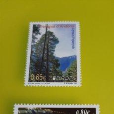 Sellos: 2011 ANDORRA ESPAÑOLA EDIFIL 386/7 NUEVA BIENAL VENECIA FLORA BOSQUE ORDINO FILATELIA COLISEVM. Lote 244734715